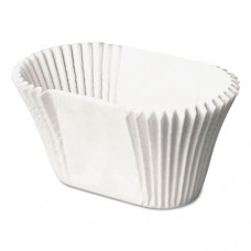 """Paper Fluted Burger Or Taco Cup, White, 1 3/4"""" X 3 3/4"""", 250/bag, 8 Bags/carton"""