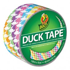 "Colored Duct Tape, 9 Mil, 1.88"" X 10 Yds, 3"" Core, Neon Houndstooth"