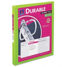 """Durable View Binder W/slant Rings, 11 X 8 1/2, 1/2"""" Cap, Chartreuse"""