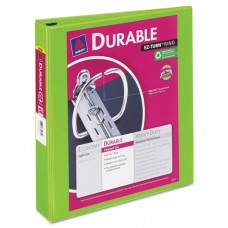 """Durable View Binder W/slant Rings, 11 X 8 1/2, 1 1/2"""" Cap, Chartreuse"""