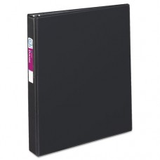 "Durable Binder With Slant Rings, Label Holder, 11 X 8 1/2, 1"", Black"