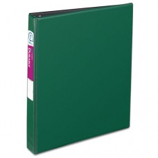 """Durable Binder With Slant Rings, 11 X 8 1/2, 1"""", Green"""