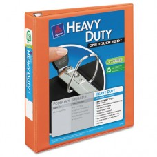 "Heavy-Duty View Binder W/locking 1-Touch Ezd Rings, 1 1/2"" Cap, Orange"