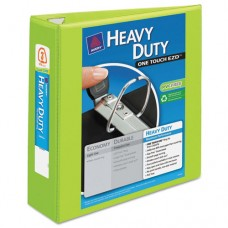 "Heavy-Duty View Binder W/locking 1-Touch Ezd Rings, 3"" Cap, Chartreuse"