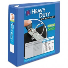"Heavy-Duty View Binder W/locking 1-Touch Ezd Rings, 3"" Cap, Periwinkle"