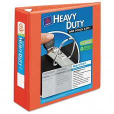 "Heavy-Duty View Binder W/locking 1-Touch Ezd Rings, 3"" Cap, Orange"