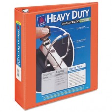"Heavy-Duty View Binder W/locking 1-Touch Ezd Rings, 2"" Cap, Orange"