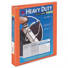 "Heavy-Duty View Binder W/locking 1-Touch Ezd Rings, 1"" Cap, Orange"