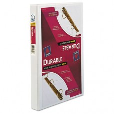"""Legal Three-Ring Durable View Binder W/round Rings, 14 X 8 1/2, 1"""" Cap, White"""