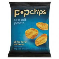 Potato Chips, Sea Salt Flavor, .8 Oz Bag, 72/carton