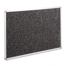 Recycled Rubber-Tak Tackboard, 36 X 24, Black W/euro Aluminum Frame