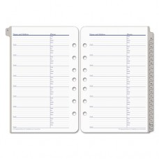 A-Z Tabbed Address/phone Pages, 5 1/2 X 8 1/2