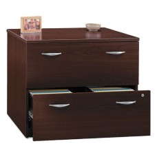 Series C Collection 36w Two-Drawer Lateral File (assembled), Mahogany