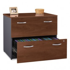 Series C Collection 36w Two-Drawer Lateral File (assembled), Hansen Cherry