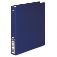 "Accohide Poly Round Ring Binder, 35-Pt. Cover, 1"" Cap, Dark Blue"