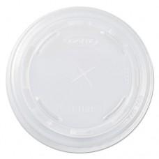 Plastic Cold Cup Lids For 10 Oz Cups, Translucent, 2500/carton