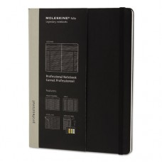 Professional Notebook, Ruled, 9 3/4 X 7 1/2, Black Cover, 192 Sheets