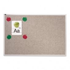 Vinyl Tack Bulletin Board, 96 X 48, Gray Surface, Silver Aluminum Frame