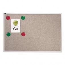 Vinyl Tack Bulletin Board, 72 X 48, Gray Surface, Silver Aluminum Frame