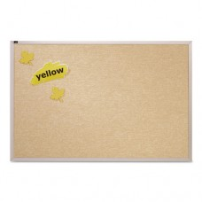 Vinyl Tack Bulletin Board, 10 Ft X 4 Ft, White Surface, Silver Aluminum Frame