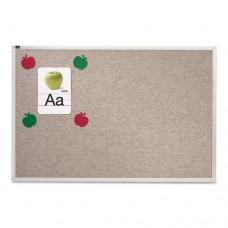Vinyl Tack Bulletin Board, 48 X 48, Gray Surface, Silver Aluminum Frame