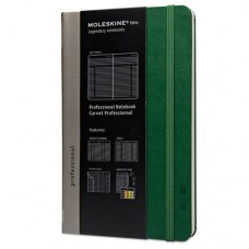 Professional Notebook, Plain, 8 1/4 X 5, Oxide Green Cover, 240 Sheets