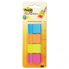 Page Flag Markers In Dispenser, Four Colors, 4 50-Flag Dispensers/pack