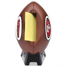 "Nfl Football Dispenser, 3"" X 3"", Tan, San Francisco 49ers"