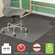Supermat Frequent Use Chair Mat, Medium Pile Carpet, Beveled, 45x53 W/lip, Clear