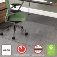 Rollamat Frequent Use Chair Mat For Medium Pile Carpet, 46 X 60, Clear