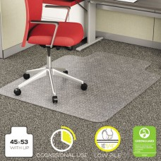 Economat Occasional Use Chair Mat For Low Pile, 45 X 53 W/lip, Clear