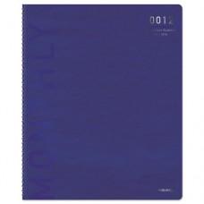 Polished Professional Wk/m Wirebound Planner, 5 1/2 X 8 1/2, Blue/silver, 2016