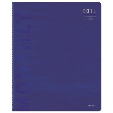 Polished Professional Monthly Planner, 8 1/2 X 11, Blue/silver, 2016