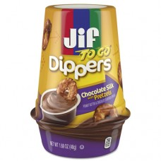 Dippers, Chocolate Silk W/pretzels, 1.69 Oz Cup, 8/carton