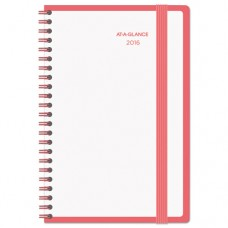 Color Play Weekly/monthly Planner, 4 7/8 X 8, White/red, 2017