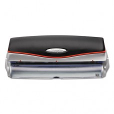 """20-Sheet Optima Electric/battery Three-Hole Punch, 9/32"""" Holes, Silver/black"""