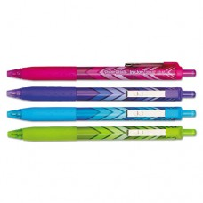 Inkjoy 300 Rt Fashion-Wrap Retractable Ballpoint Pen, 1mm, Assorted, 4/pack