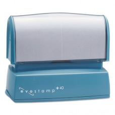 Evostamp Custom Pre-Inked Stamp, Ep40, Custom Message, Five Colors
