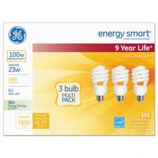 Energy Smart Compact Fluorescent Light Bulb, 1650 Lm, 120 V, Soft White, 3/pack