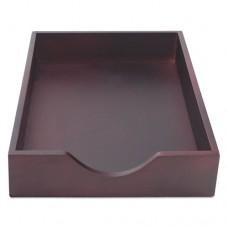 Hardwood Legal Stackable Desk Tray, Mahogany