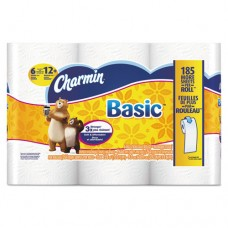 Basic Bathroom Tissue, 1-Ply, 4 X 3.92, 264/roll, 6 Roll/pack