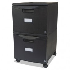 Two-Drawer Mobile Filing Cabinet, 14-3/4w X 18-1/4d X 26h, Black