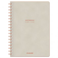 "Collection Twinwire Notebook, Legal, 7 1/4"" X 9 1/2"", Tan/red, 80 Sheets"