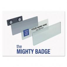 Name Badge Starter Kit, Laser Inserts, 1 X 3, Gold, 10 Per Kit