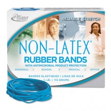 Antimicrobial Non-Latex Rubber Bands, Sz. 33, 3-1/2 X 1/8, .25lb Box