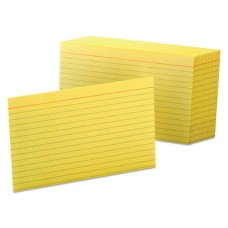 Ruled Index Cards, 5 X 8, Canary, 100/pack