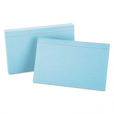 Ruled Index Cards, 5 X 8, Blue, 100/pack