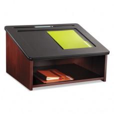 Tabletop Lectern, 24w X 20d X 13-1/2h, Mahogany/black