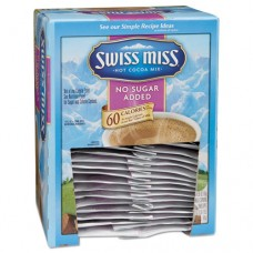 Hot Cocoa Mix, No Sugar Added, Milk Chocolate, 0.55 Oz Packet, 60/carton