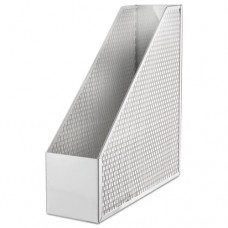 Urban Collection Punched Metal Magazine File, 3 1/2 X 10 X 11 1/2, White